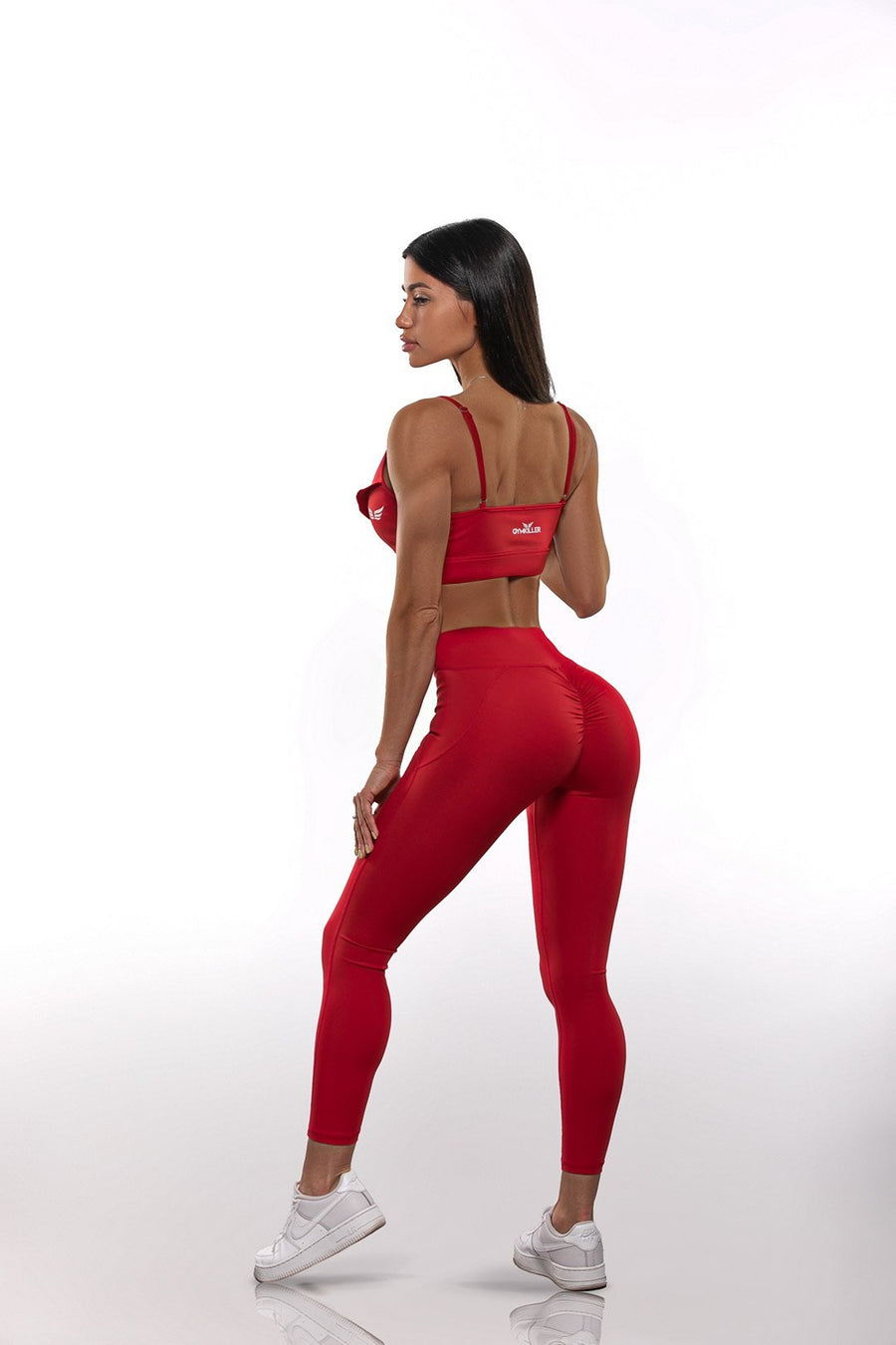 NEW COLLECTION - JULIE Leggings Red - GYMKILLER