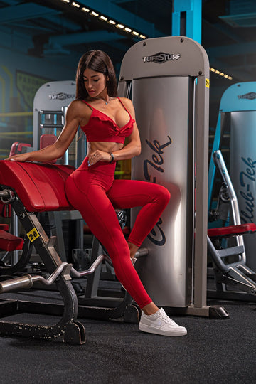Pre-Sale - NEW COLLECTION - JULIE Leggings Red - GYMKILLER