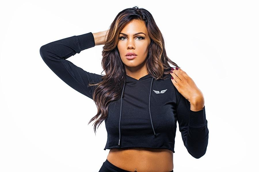 RUTH Cropped Hoodie Black - GYMKILLER