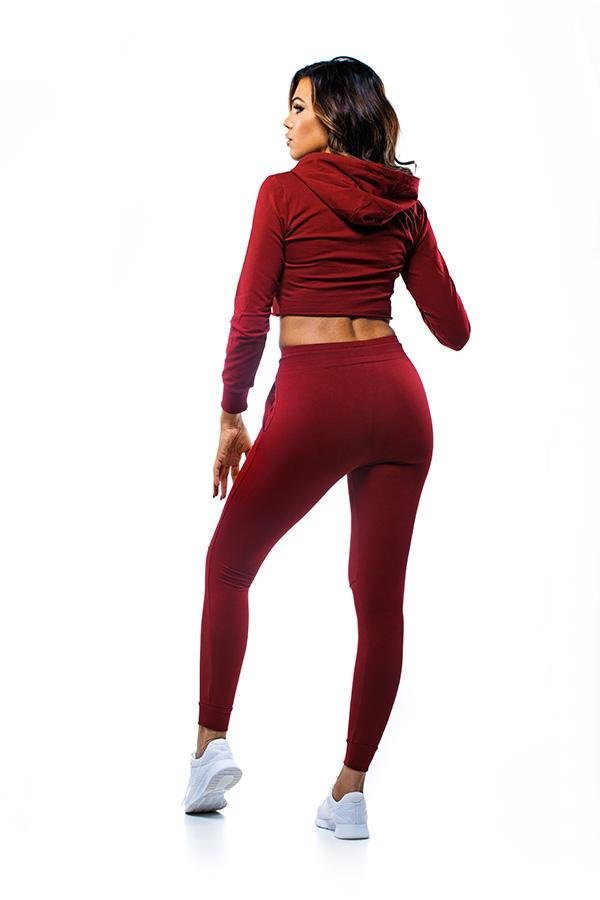 RUTH Cropped Hoodie Red - GYMKILLER