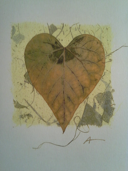 Heart Leaf - pack of 4 cards