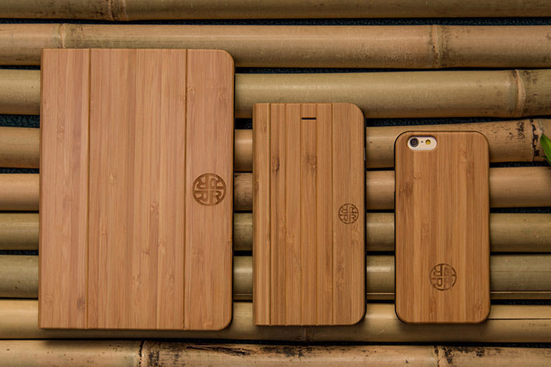 Our sustainable bamboo ipad and iphone cases.