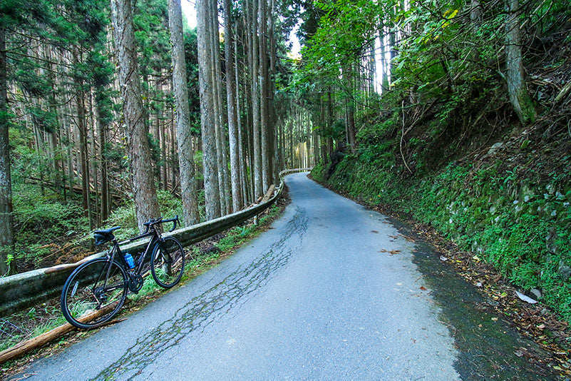 Isolated backroads in the mountains of Kyoto, Japan.