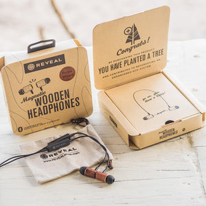 Magnetic Wood Bluetooth Earbuds - Necklace Style