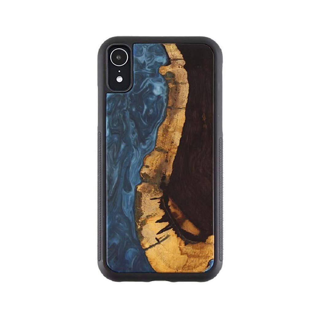 Nature Fusion Wood & Resin Blue Case for iPhone