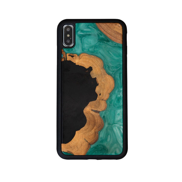 Nature Fusion Wood & Resin Green Case for iPhone