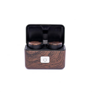 Wood Grain TWS Touch Earbuds
