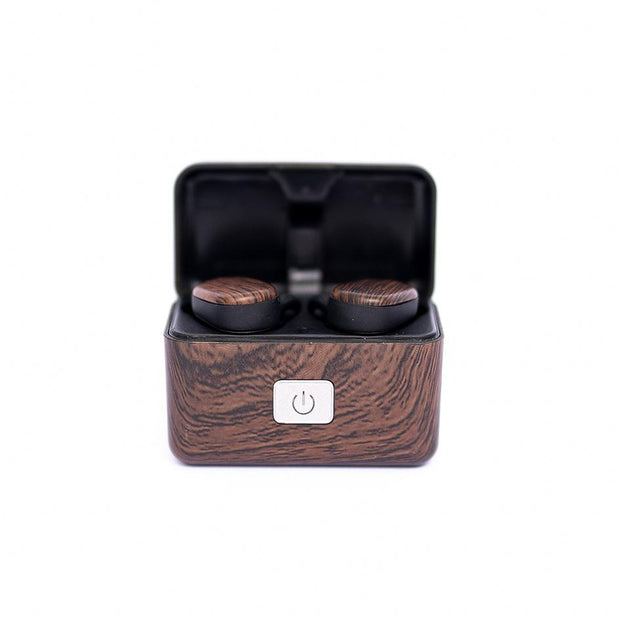 Wood Grain Wireless Earbuds