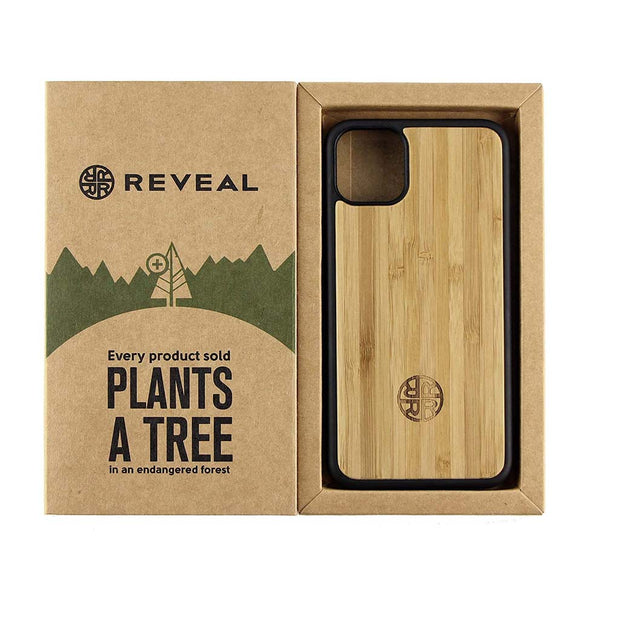 Bamboo Laser Engraved Case Compatible with iPhone 12/12 Mini/12 Pro/12 Pro Max - Natural Eco Friendly Designs by Reveal Shop (Bamboo, 12)-Revealshop.com