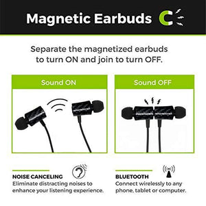 Carbon Fiber Magnetic Bluetooth Earbuds (Black)