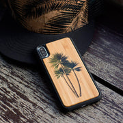 Palm Tree Bamboo Case for iPhone X/XS