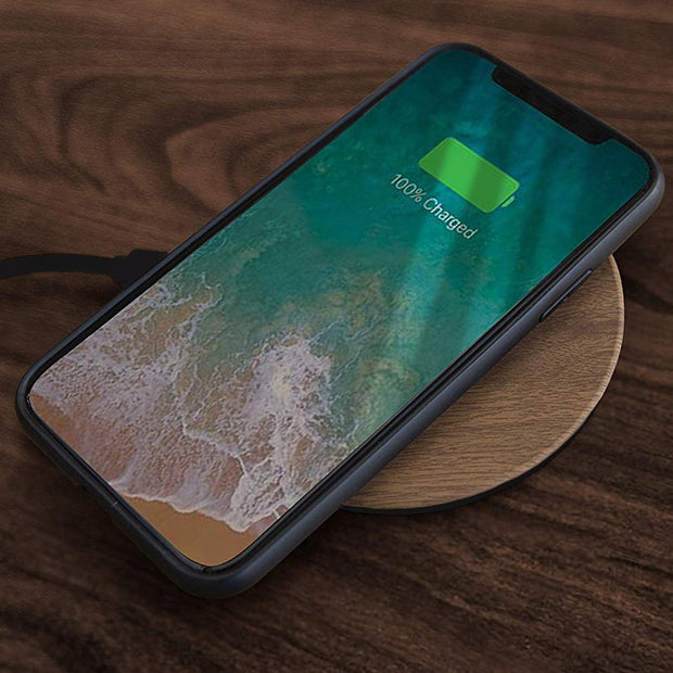 Wood Inspired Qi Enabled Wireless Smartphone Charger