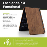 Wood Inspired Foldable Bluetooth Keyboard
