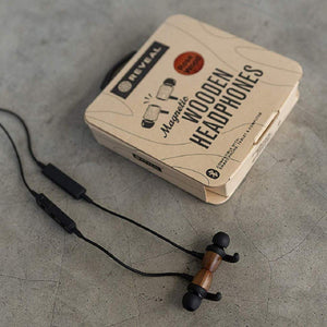 Wood Sports Magnetic Bluetooth Earbuds w/ Secure Inner Ear Fit