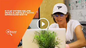 Kyle Yates helps Irina & Ashley with Spreadsheets | We Love Pickleball, Too