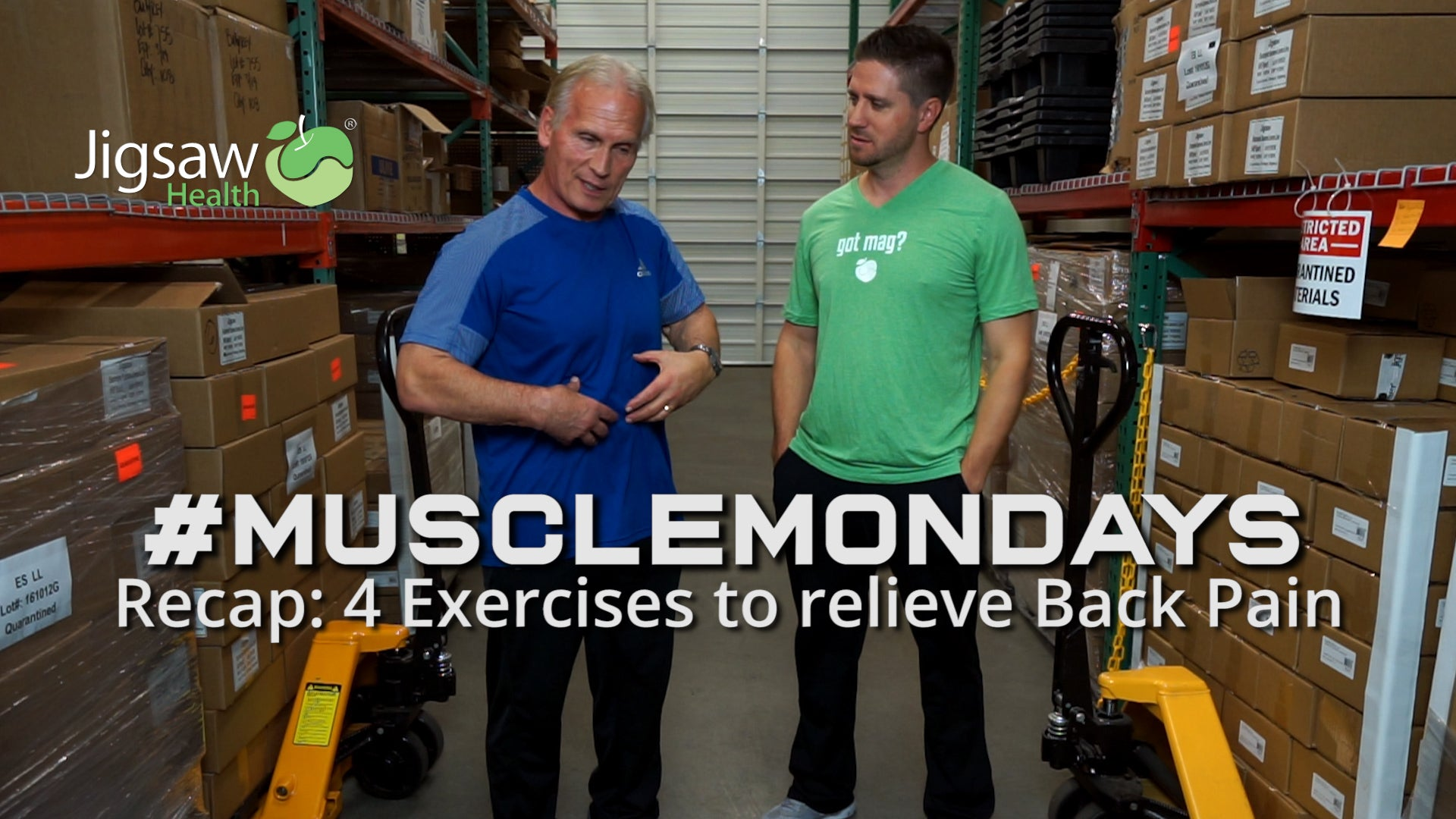 Recap: 4 Exercises to Relieve Back Pain and Why they Work | #MuscleMonday