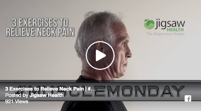 3 Exercises to Relieve Neck Pain | #MuscleMonday