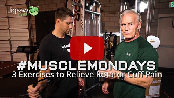 3 Exercises to Reduce Rotator Cuff Pain | #MuscleMonday