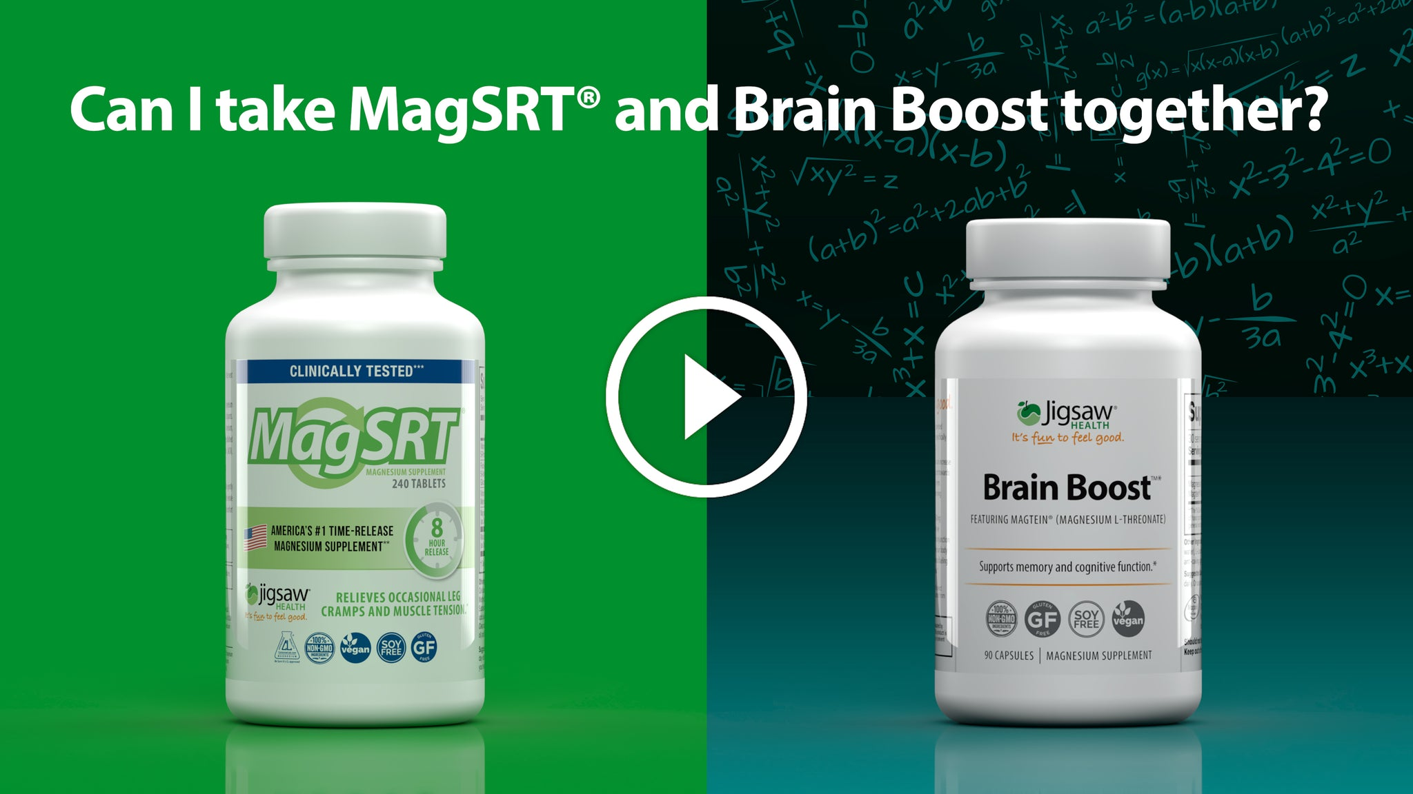 Can I take MagSRT® and Brain Boost™ Together?