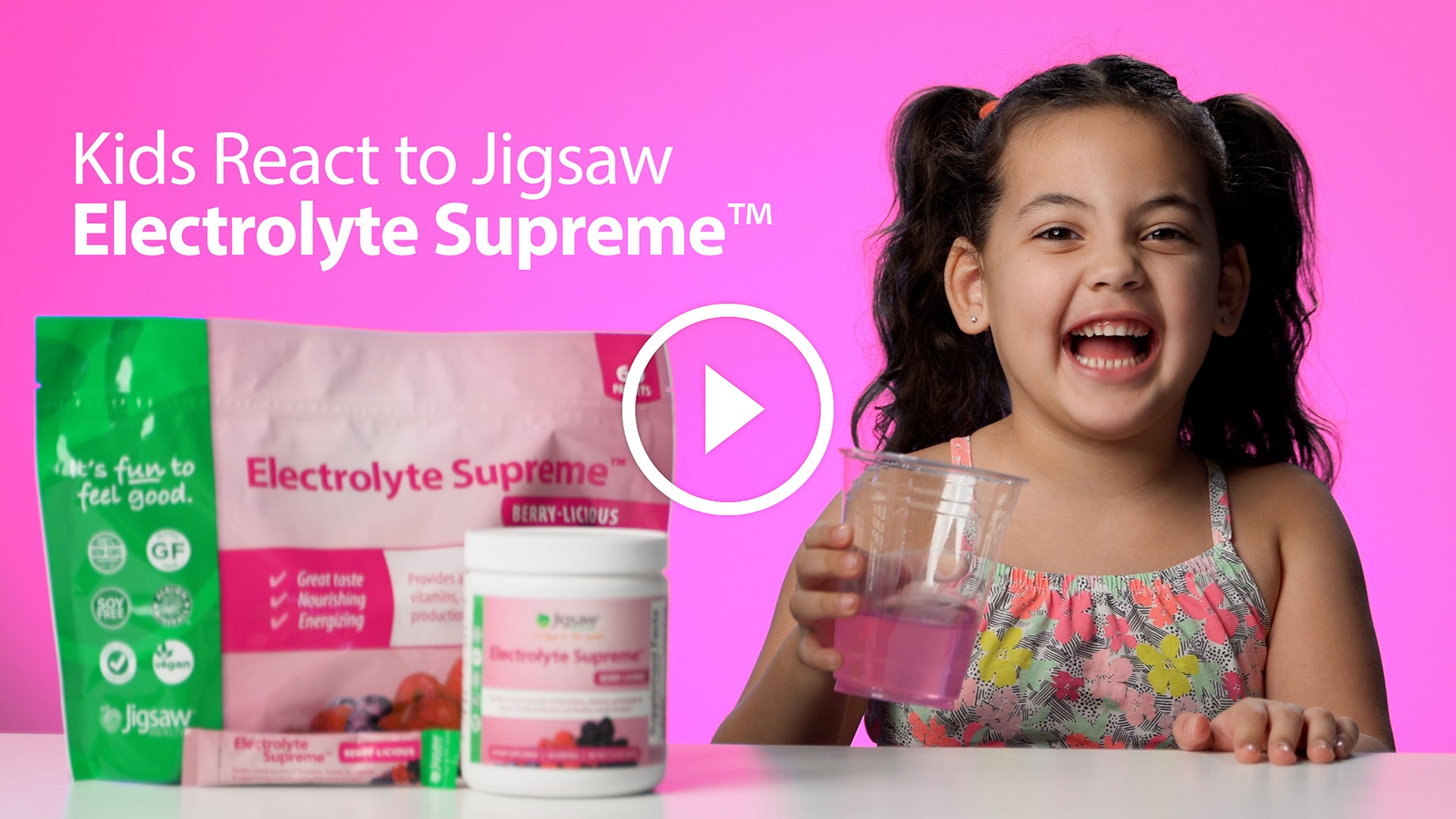 Kids React to Jigsaw Electrolyte Supreme™ | #FunnyFriday