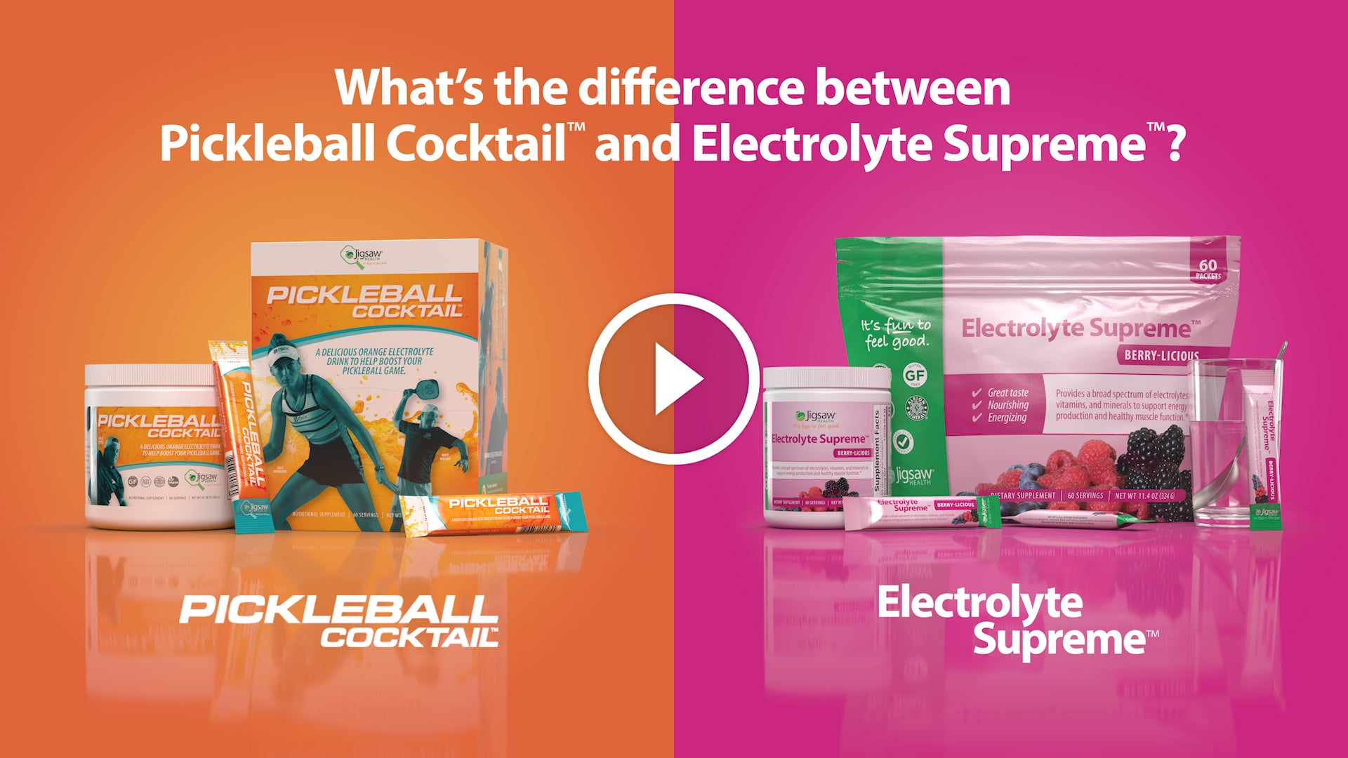 What's the difference between Pickleball Cocktail™ and Electrolyte Supreme™?