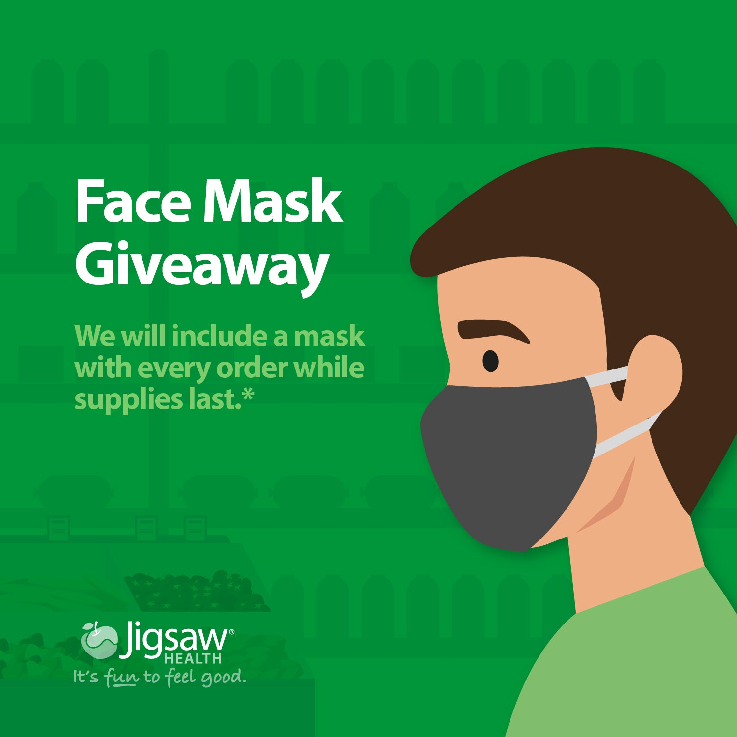 Jigsaw Health Face Mask Giveaway