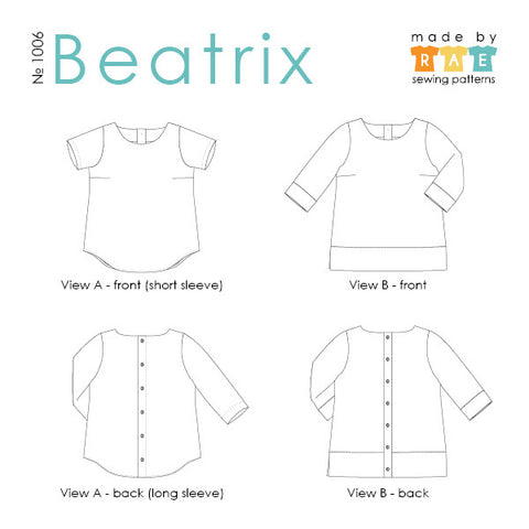 Beatrix Sewing Pattern PDF