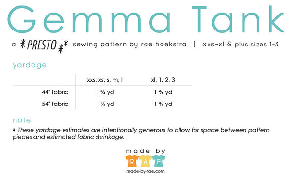 Gemma Sewing Pattern PDF