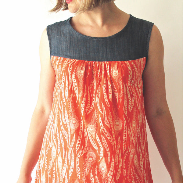 Made By Rae Ruby Dress PRINTED sewing pattern front cover