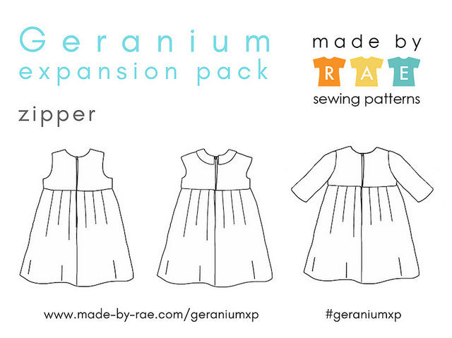Geranium Expansion Pack Sewing Pattern / made by rae