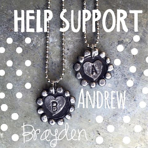 Help Support Families of Brayden and/or Andrew $5 from each necklace will go straight to the family!!