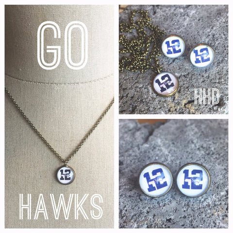 12th Man Necklace and Matching earrings