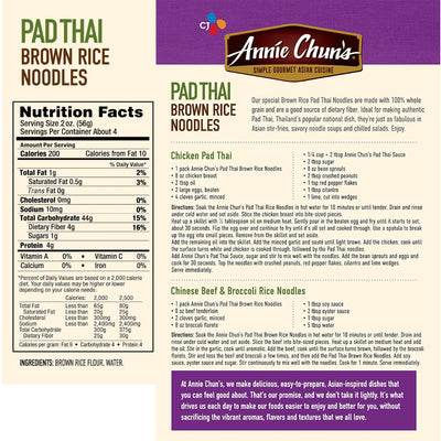 Annie Chun's Pad Thai Brown Rice Noodles - 8 oz