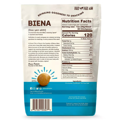 Biena Sea Salt Chickpea Snacks - 5 oz.
