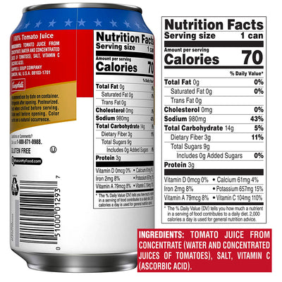 Campbell's Tomato Juice From Concentrate - 11.5 fl. oz.
