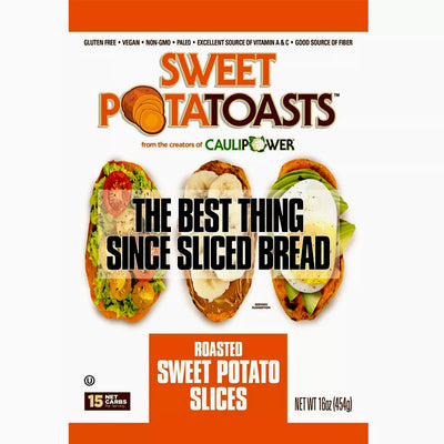 Caulipower Frozen Sweet PotaTOASTS Roasted Sweet Potato Slices - 16 oz.