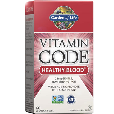 Vitamin Code Healthy Blood 60 Vegan Capsules | Vegan Black Market