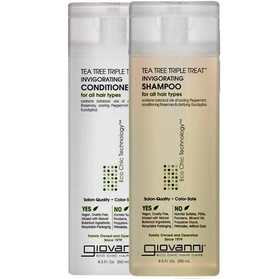 GIOVANNI Tea Tree Triple Treat Invigorating Shampoo Conditioner
