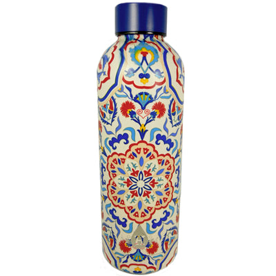 Floral Pattern Heritage Double Wall Stainless Steel Bottle - 17 oz.