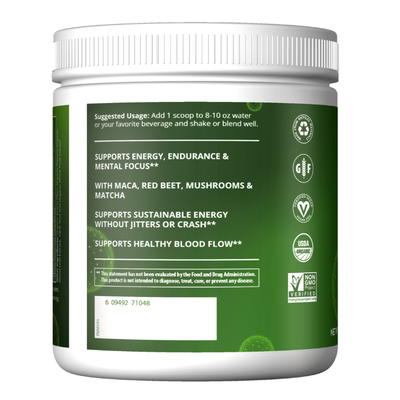 MRM Nutrition Organic Pre-Workout Plant Based Energy Island Fusion 8.5 oz