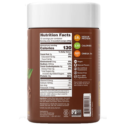 Olly Plant Powered Pure Chocolate Protein Powder Mix - 14.8 oz.