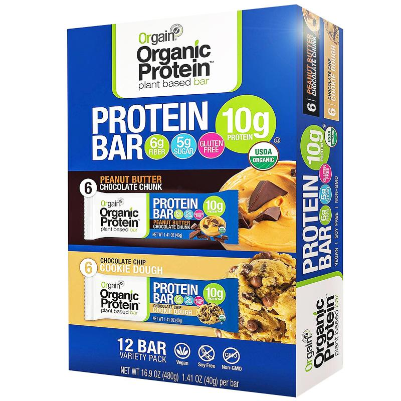 orgain protein bars cookie dough