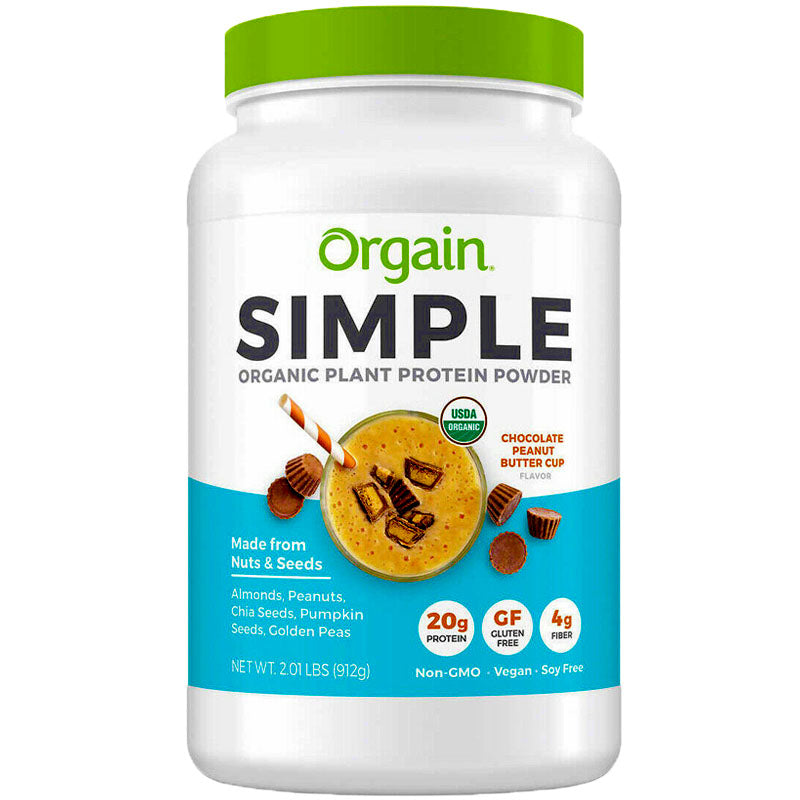 Orgain Simple Organic Plant Protein Powder Chocolate Peanut Butter Cup - 2.01 lbs