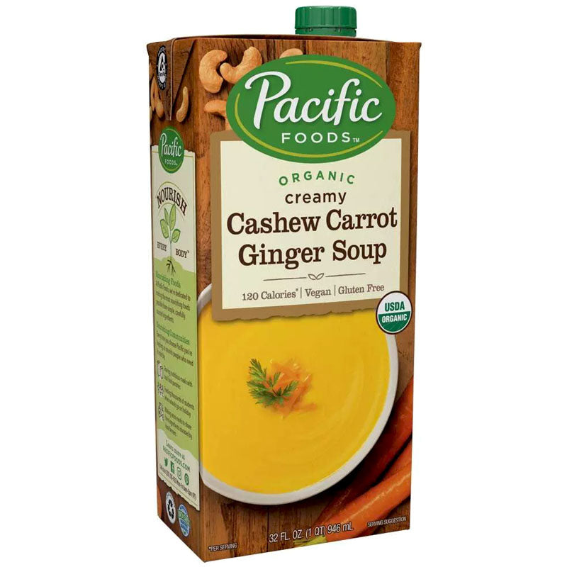 Pacific Foods Organic Creamy Cashew Carrot Ginger Soup - 32 oz.