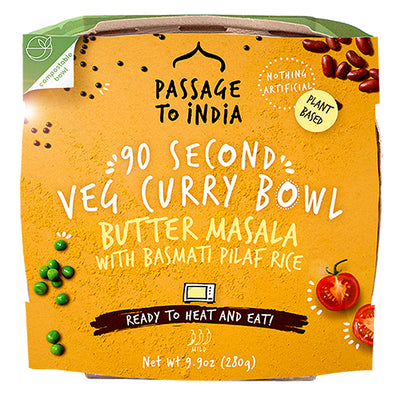 90 Second Veg Curry Bowl Butter Masala with Basmati Pilaf Rice Passage to India