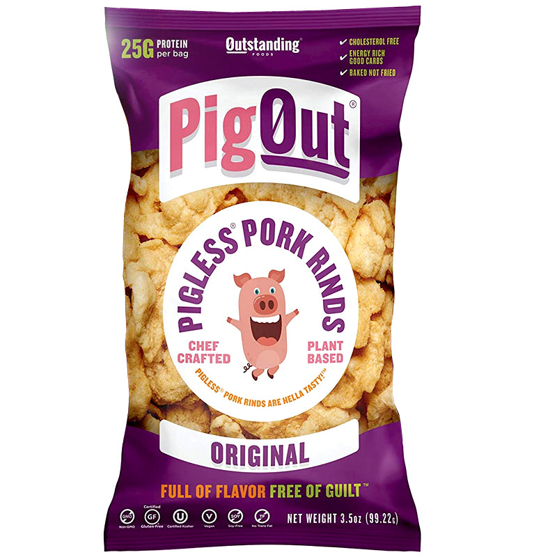 Pig Out Original Pigless Pork Rinds 3.5 - oz.