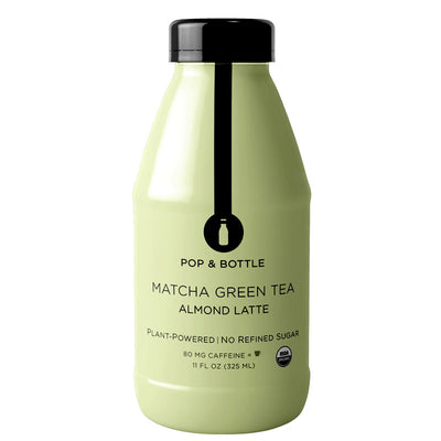 Pop & Bottle Matcha Green Tea Almond Latte - 11 fl oz.