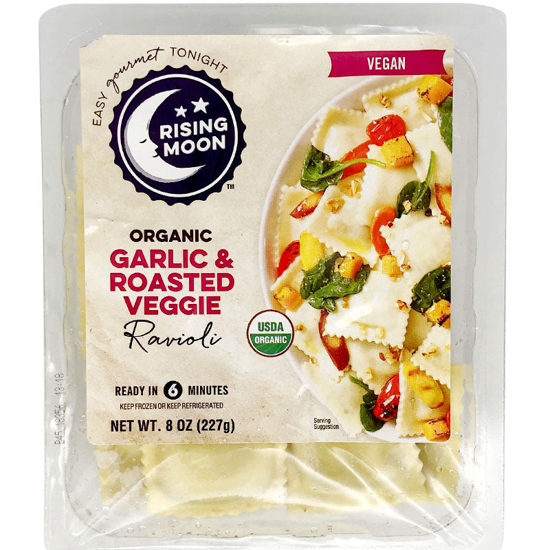 Rising Moon Organics Vegan Garlic & Roasted Veggie Ravioli - 8 oz.