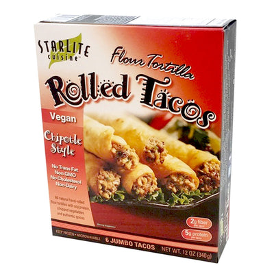 Starlite Cuisine Vegan Chipotle Style Rolled Tacos - 12 oz.