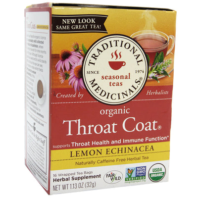 Traditional Medicinals Organic Throat Coat Lemon Echinacea Tea